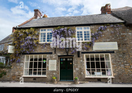 The Tea Rooms in the picturesque village of Abbotsbury in Dorset, England UK - Stock Photo