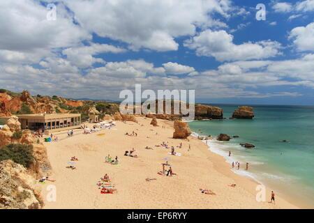 Praia de Sao Rafael near Albufeira on the Algarve in Portugal. - Stock Photo