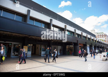 2015 - New, refurbished Euston station, London, England - Stock Photo
