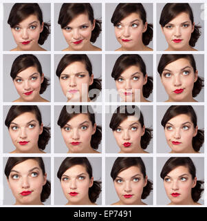 Young Woman Collection of Expressions - Stock Photo