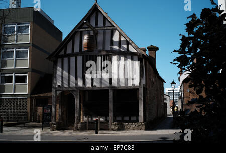 Merchant house in Southampton a medieval house and shop and Inn. - Stock Photo