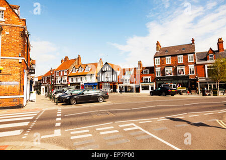 Beverley town centre market place shops road high street East Riding Of Yorkshire UK England - Stock Photo
