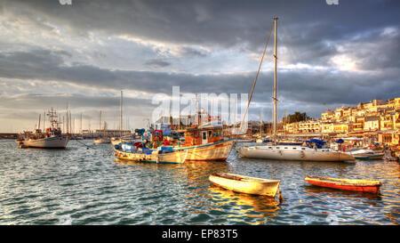 Morning in Mikrolimano marina in Athens, Greece - Stock Photo