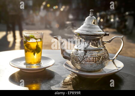Traditional mint tea. Morocco - Stock Photo