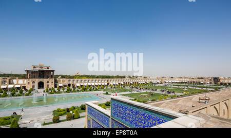 Ali Qapu and Maidan-i Shah, Isfahan, Iran - Stock Photo