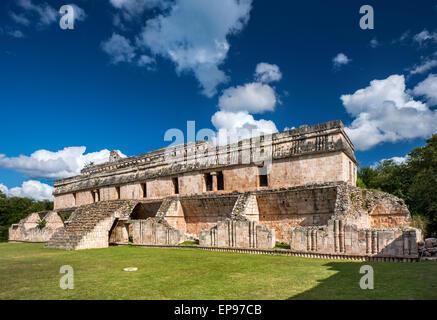El Palacio, Maya ruins at Kabah archaelogical site, Ruta Puuc, Yucatan state, Mexico - Stock Photo