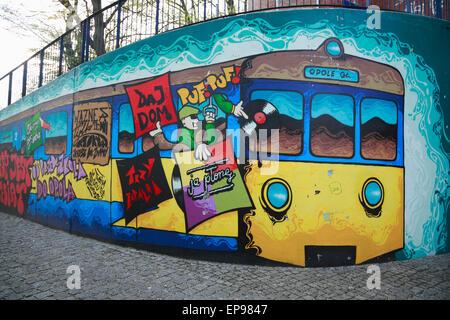 Graffiti in Opole, Silesia, Poland, Europe - Stock Photo