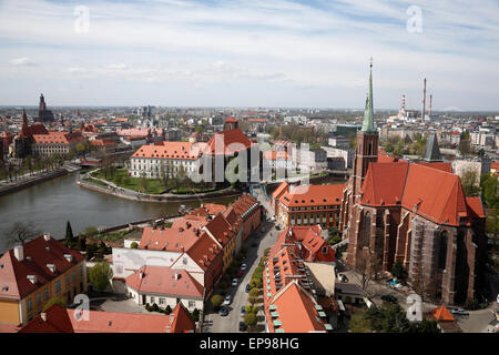 View from Cathedral, Wroclaw, Silesia, Poland, Europe - Stock Photo