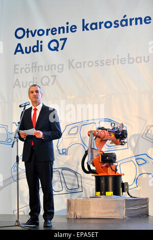 new car launches may 2015Volkswagen Bratislava 15th May 2015 Start of production in new