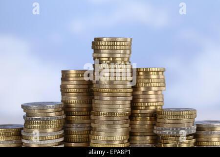 Münzen Diagramm Thema Erfolg, siegen und gewinnen - Stock Photo