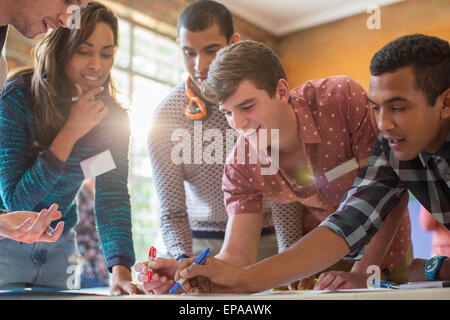 creative business people working office - Stock Photo