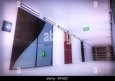 Ultra Modern Building Corridor - Stock Photo