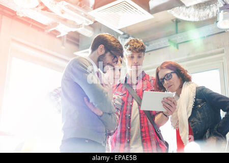 creative business people digital tablet office - Stock Photo
