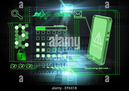 Composite image of security interface - Stock Photo