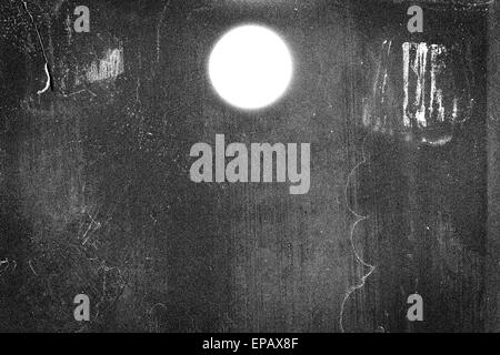 Medium format film frame with heavy scratches, dust and grain - Stock Photo