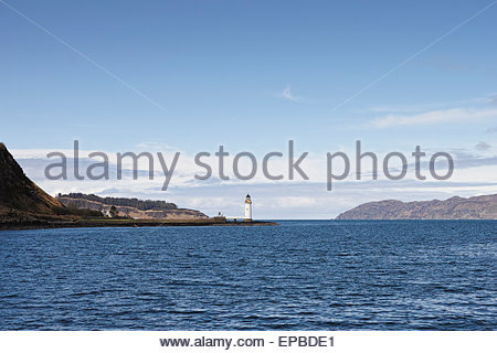 Rubha nan Gall lighthouse on the Isle of Mull: Inner Hebrides, Scotland. - Stock Photo