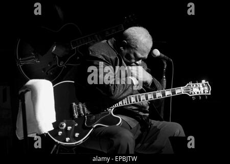 Blues musician B.B. KING (September 16, 1925 - May 14, 2015) whose scorching guitar licks and heartfelt vocals made - Stock Photo