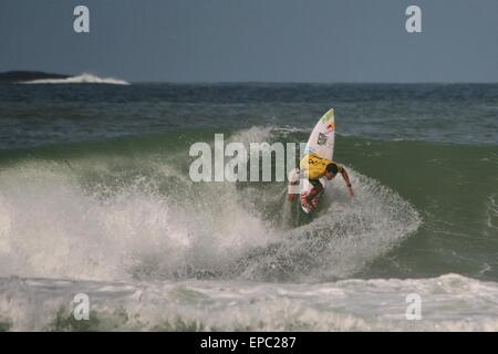 Rio de Janeiro, Brazil. 15th May, 2015. Adriano de Souza (BRA) in Round 3 of WCT Oi Rio Pro 2015 in Barra da Tijuca - Stock Photo