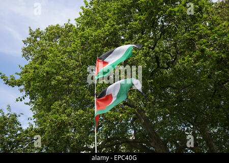 London, UK. 15th May, 2015. Remembering the Nakba, The ongoing Ethnic cleansing of Palestine, or 'catastrophe', - Stock Photo