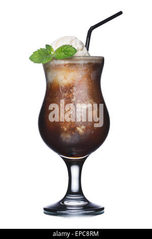 Alcoholic cocktail in hurricane glass. Fresh, clean look. - Stock Photo