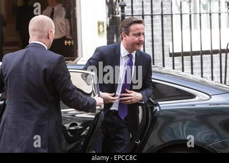 Prime Minister,David Cameron, arrives at number 10 Downing street