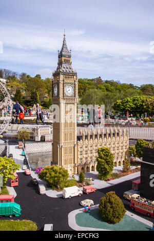 Big Ben and the houses of parliament at Legoland Theme Park, Windsor, Berkshire, United Kingdom. - Stock Photo