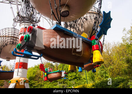Balloon School ride Legoland, Windsor, London, England, United Kingdom. - Stock Photo