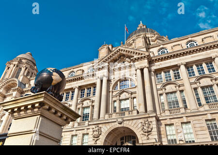 Historic buildings at Liverpool's waterfront also part of Liverpool's UNESCO designated World Heritage Maritime - Stock Photo