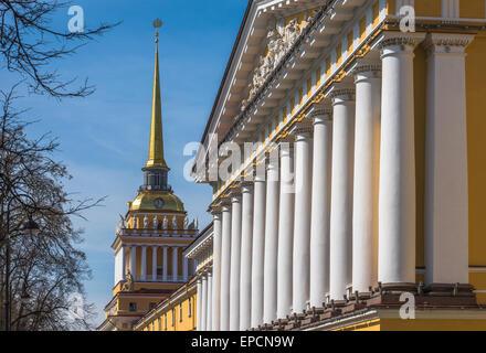 Admiralty building, Saint Petersburg, Russia - Stock Photo