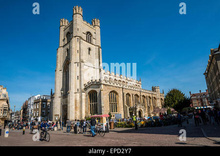 Great St Mary's Church, also Church of St Mary the Great is the University church of Cambridge and is located in - Stock Photo