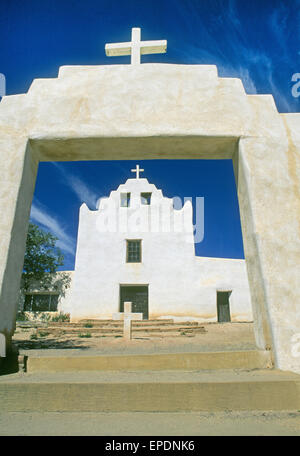 The Catholic church at Laguna Indian Pueblo in New Mexico is dedicated to Saint Joseph and was built in 1699.  San Jose Mission is built in the early Pueblo – style architecture, and was constructed of field stone, adobe, mortar, and plaster.