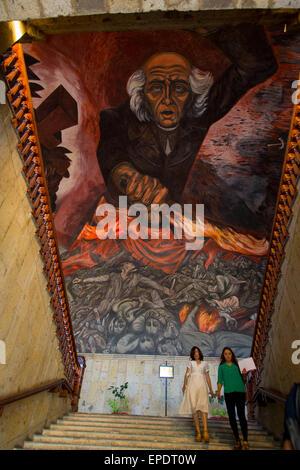 Mural by jose clemente orozco of miguel hidalgo palacio for Aviso de ocasion mural guadalajara