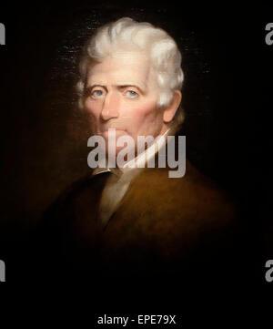 Daniel Boone - American Frontiersman, circa 1820 - Stock Photo