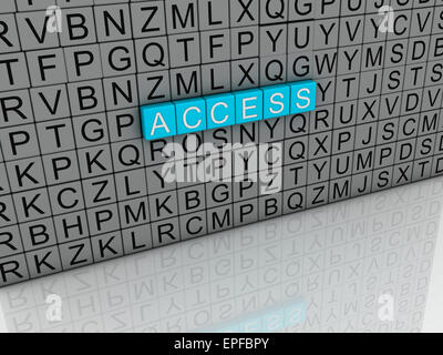 3d image Access  issues concept word cloud background - Stock Photo