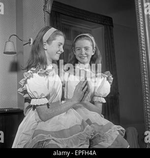 Thirteen year old Jane Asher seen here in her costume for the title role in 'Alice through the Looking Glass' at - Stock Photo