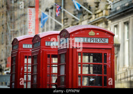 Kiosk Number 6 the iconic Red Telephone Box - Stock Photo