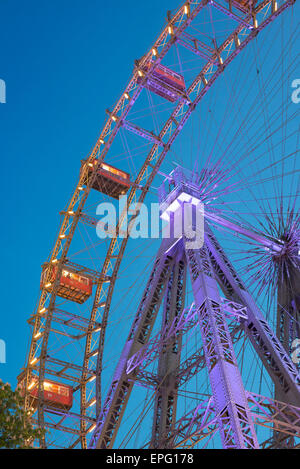 Riesenrad Prater Vienna, view of the Riesenrad ferris wheel in Vienna, famously featured in the 1949 film The Third - Stock Photo