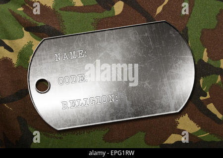 military dog tag - Stock Photo