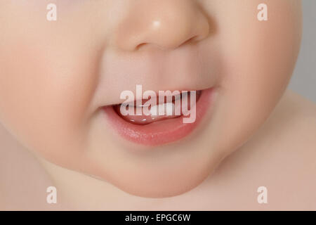 closeup of a Baby teeth - Stock Photo