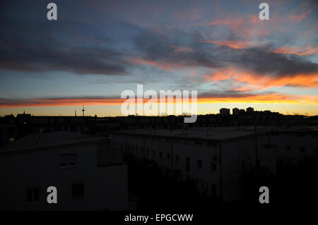 Sunset, clouds, sky - Stock Photo
