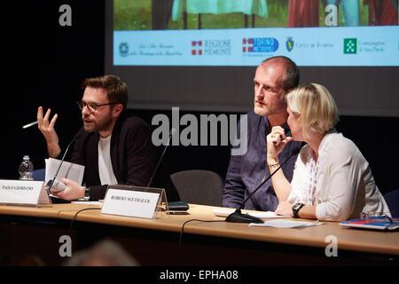 Robert Seethaler at Salone del Libro, international book fair on May 17, 2015 in Turin. - Stock Photo