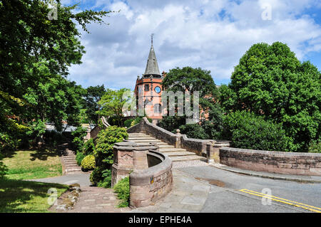 The Lyceum building at Port Sunlight village, Wirral, England, UK - Stock Photo