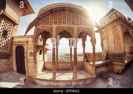 Zenana mahal in City Palace museum of Jaisalmer fort, Rajasthan, India