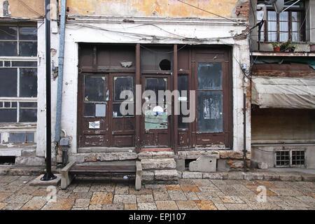 Abandoned local shop - Stock Photo