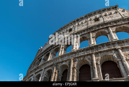 The Colosseum or Coliseum, known as the Flavian Amphitheatre, is an elliptical amphitheatre in the centre of the - Stock Photo