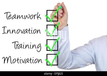 Businessman mit Business Konzept Training Innovation und Teamwork - Stock Photo