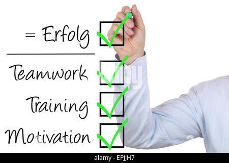 Businessman mit Business Erfolg Konzept Training Motivation und Teamwork - Stock Photo