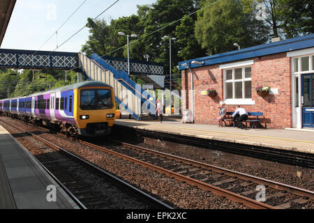 The station at Kidsgrove near Stoke on Trent, Staffordshire - Stock Photo
