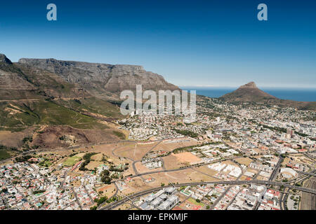South Africa, aerial view of Cape Town - Stock Photo