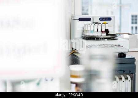 Medical samples in tissue stainer - Stock Photo